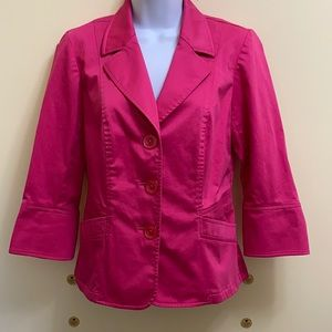 Pretty in Pink Tribal 3 Button Jacket size 4